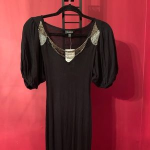 bebe Bell Sleeve Beaded Dress SizeXS